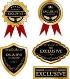 Collection exclusive de label d'or d'adhésion illustration stock