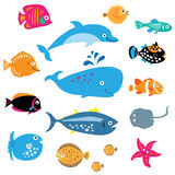 A collection of exotic marine inhabitants Stock Photo