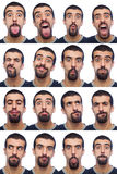 Collection of Expressions Royalty Free Stock Photography