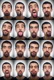 Collection of Expressions Royalty Free Stock Photos