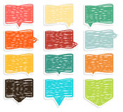 Collection of extraordinary colorful crosshadged speech bubbles Stock Photo