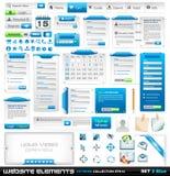 Collection extrême 2 d'éléments de conception de Web Photos stock