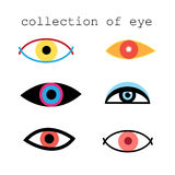 Collection of eye signs. Collection schedule eye signs on white background Royalty Free Stock Images