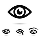 Collection of eyes - icon set. Royalty Free Stock Photography