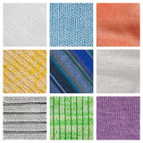 Collection fabric textured background Stock Image
