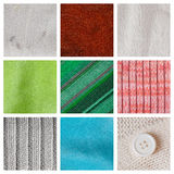 Collection fabric textured background Royalty Free Stock Photography