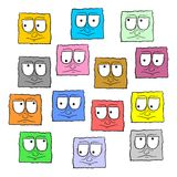 Collection faces Royalty Free Stock Images