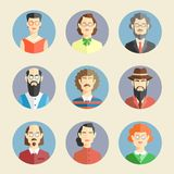 Collection of faces icons Royalty Free Stock Photography