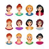 Collection faciale d'émotions Image stock