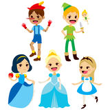 Collection Fairy Tale Characters. Fantasy children fairy tale characters collection Stock Photography