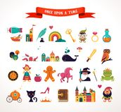 Collection of fairy tale elements, icons Stock Images