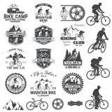 Collection faisante du vélo de montagne Illustration de vecteur illustration stock