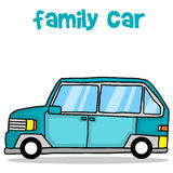 Collection of family car transport. Vector illustration Stock Photo