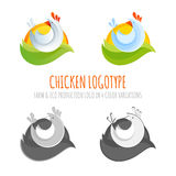 A collection of farm chicken icons Royalty Free Stock Image