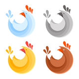 A collection of farm chicken icons Royalty Free Stock Photos
