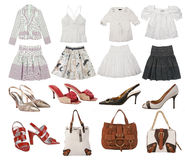 Collection fashion clothes stock photo