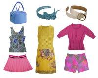Collection fashion clothes royalty free stock photos