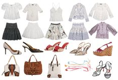 Collection fashion clothes isolated on white stock photo