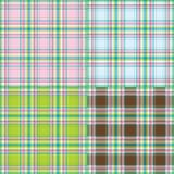 Collection of fashion fabrics texture Stock Photography
