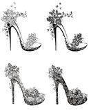 Collection of fashion high heels shoes Royalty Free Stock Photo