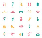 Collection of Fashion and Shopping Icons Stock Photo