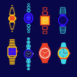 Collection of fashion watch Royalty Free Stock Photo