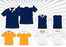 Collection of Fashionable Polo Shirt Vector Stock Image