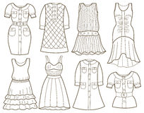 Collection of fashionable womens dress Stock Photography