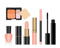Collection of female accessories of beauty. Stock Photo