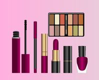 Collection of female accessories of beauty Stock Photo
