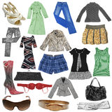 Collection of females dress Stock Images