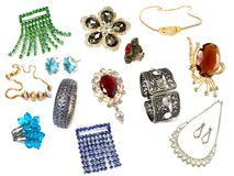 Collection of feminine accessories Stock Images