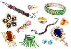 Collection of feminine accessories Stock Photos