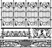 Collection of fences () Royalty Free Stock Images
