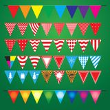 Collection of festive decorative flags for the holiday royalty free illustration
