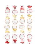 Collection of festive frames Stock Photography