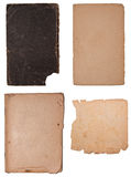 Collection of few old paper pieces. Isolated on white. High resolution Stock Image