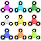 Collection of fidget spinner royalty free stock photography