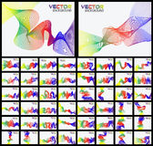 Collection of fifty rainbows ribbon effect Stock Photo