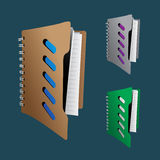 Collection of file folder Vector EPS10. Illustration Royalty Free Stock Images