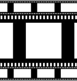 Collection of filmstrips. On white background Royalty Free Stock Photos