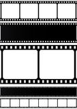 Collection of filmstrips. Vector icons isolated on white background Stock Photo