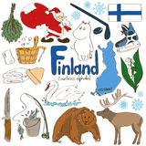 Collection of Finland icons Royalty Free Stock Photos