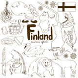 Collection of Finland icons royalty free stock image