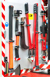 Collection of fire fighting tools Stock Image