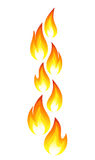 Collection of fire icons. Vector-Illustration Royalty Free Stock Photo