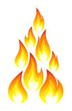 Collection of fire icons. Vector-Illustration Stock Image