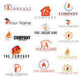 Collection of Fire logos. Collection of vector Fire logos Royalty Free Stock Image