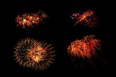Collection of fireworks. Stock Photo