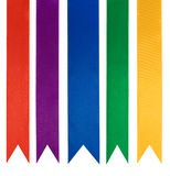 Collection of five different color ribbons Royalty Free Stock Photo